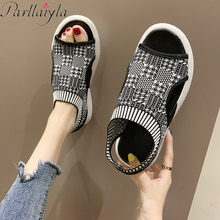 Women's Sandals 2019 Platform Sandalia Feminina Summer Women'S Shoes Ladies Sandal Casual Chunky Woman Shoes wedge heel 3.5cm