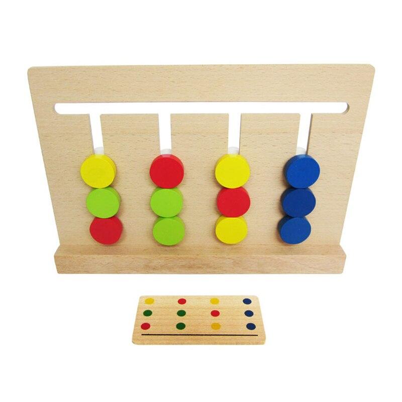 Juguete para bebé Montessori en cuatro colores, juego de colores a juego para Educación Temprana, juguetes de aprendizaje para educación preescolar, regalo N1