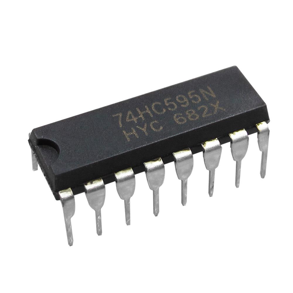 100 Uds., SN74HC595N DIP16 SN74HC595 DIP 74HC595N 74HC595, IC nuevo y original