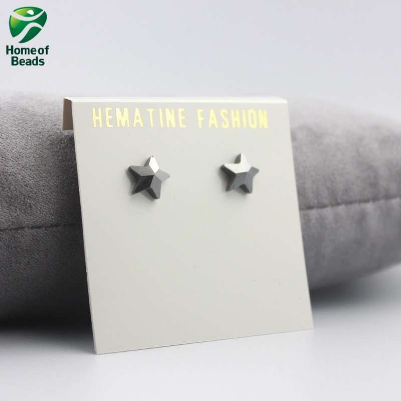 2020 New Cute Star Shape Strong Magnetic Hematite Stud Earrgings Beneficial to Health Lose Weight HE