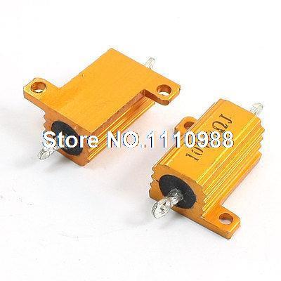 10 Watt 3 Ohm Gelb Aluminium Brachte Verkleidet Wire Wound Leistungswiderstände 2 Stücke