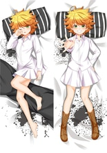 MMF manga caliente los personajes de Neverland prometidos Emma funda de almohada de anime Yakusoku no Nebarando cuerpo funda de almohada Dakimakura