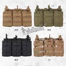 Sac de rangement utilitaire tactique Airsoft militaire camaflage Molle Triple pochette chargeur pour G36 WoSporT