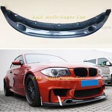 Carbon fiber Front Bumper Lip Rear Bumper Diffuser for BMW 1 Series E82 1M