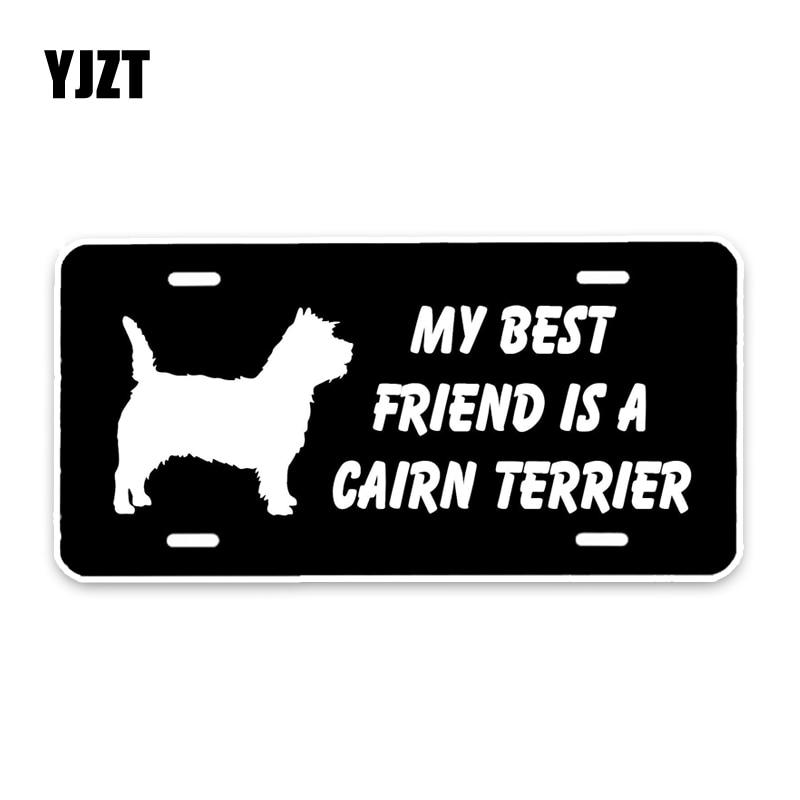 YJZT 15*7,3 CM mi mejor amigo es un Cairn Terrier perro decoración de parachoques pegatina de ventana C1-4658