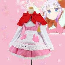 Miss Kobayashi's Dragon Maid Kanna Little red riding hood female dresses costume cosplay