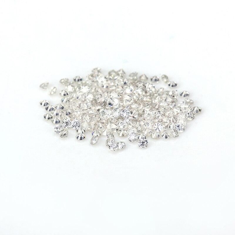Melee Diamonds tamaño pequeño 30/paquete 1,4mm color GH forma redonda Mini tamaño moissanita gemas piedra para hacer joyería prueba positiva
