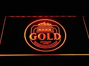 a277 Castlemaine XXXX Gold LED Neon Light Signs with On/Off Switch 7 Colors to choose