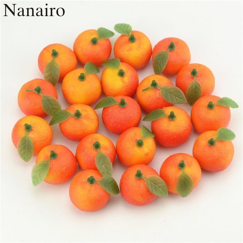 Искусственные цветы для скрапбукинга, 10 шт., имитация пены для фруктов и овощей, украшения дерева