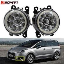 2x Angel Eyes   Pare-choc avant haute luminosité, 107 antibrouillard, blanc, pour Peugeot 207 307 407 607 2008 3008