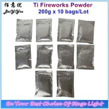 10 torba Ti tozu 200 g/torba titanyum Metal tozu soğuk kıvılcım havai fişek Sparkular makine sarf malzemeleri tozu MSDS