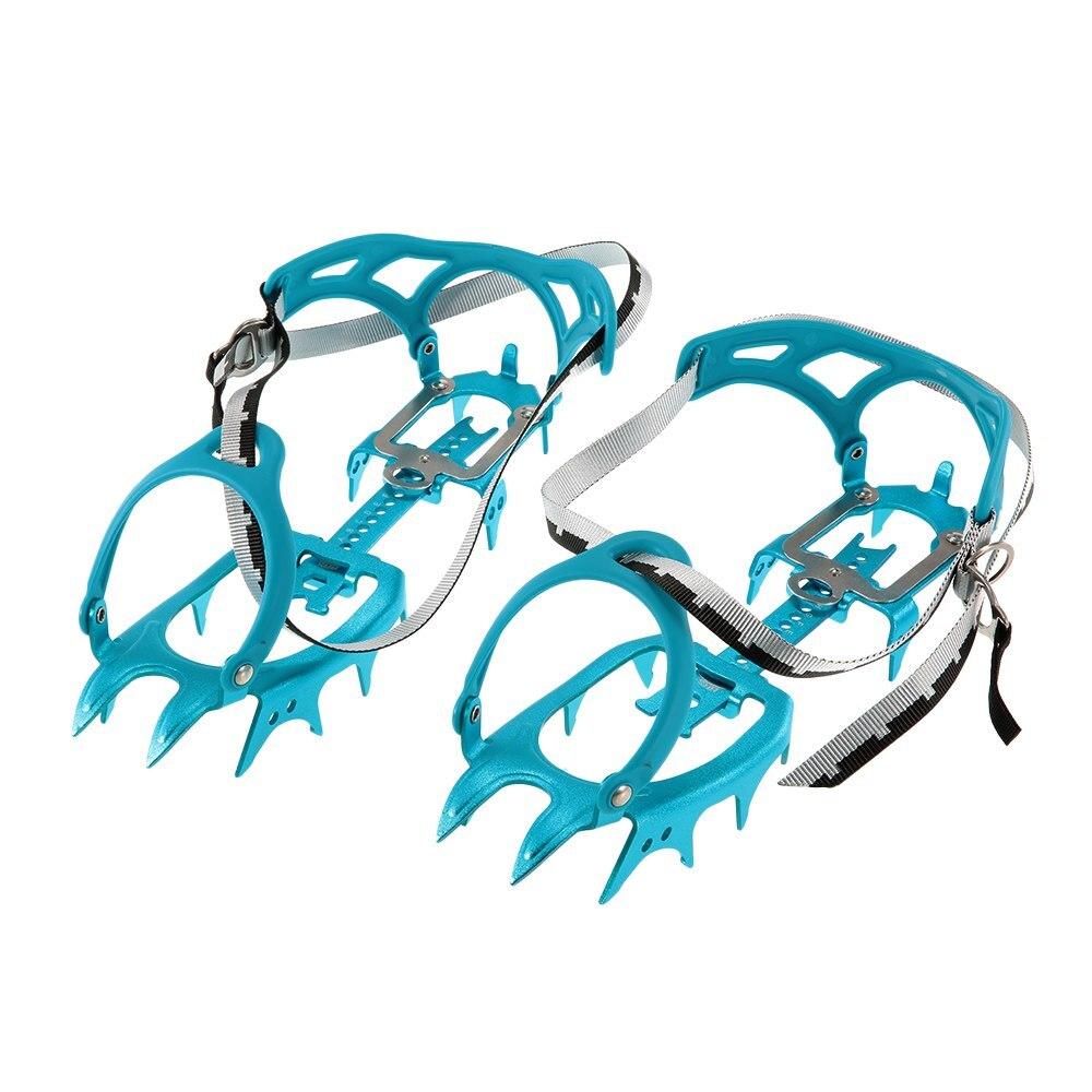 Crampón pinza de hielo con 14 dientes, aleación de aluminio, expediciones profesionales de alpinismo, crampones de nieve, equipo de escalada, botas de senderismo