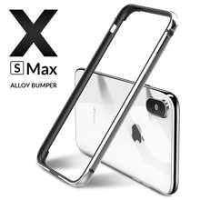 Luxury Metal Bumper for iPhone X XR XS 11 Pro Max Case Aluminium Bumper Ultra thin slim Phone Cases For iPhone X S 11 7 8 Cover