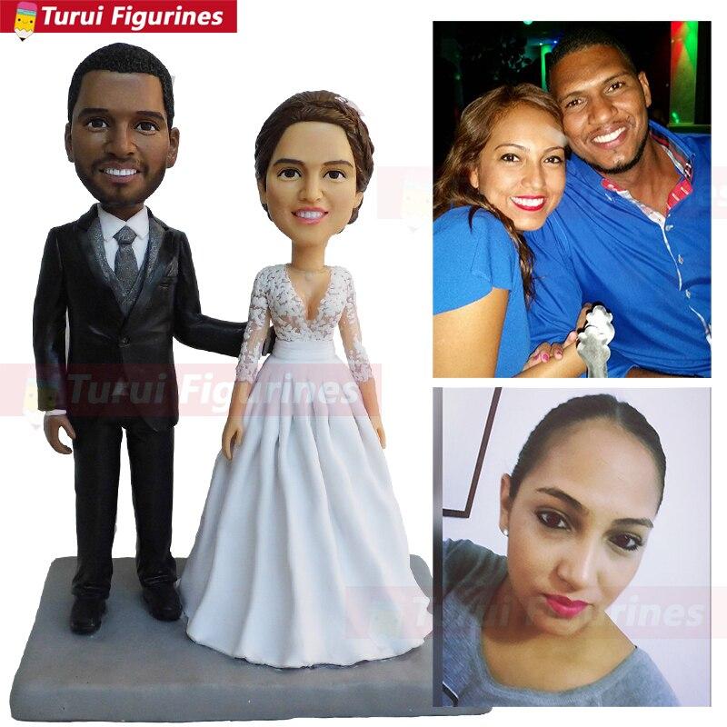 Garniture de gâteau de mariage   Poupée à bobhead, en forme de mini me ou de Couple, personnalisé, déguisement de police