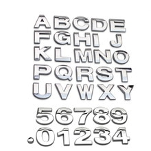 Autocollants 3D lettre métallique anglaise de voiture   Bonne qualité, bricolage, autocollants numéros, Badge emblème de Logo, pour voiture SUV camion moto