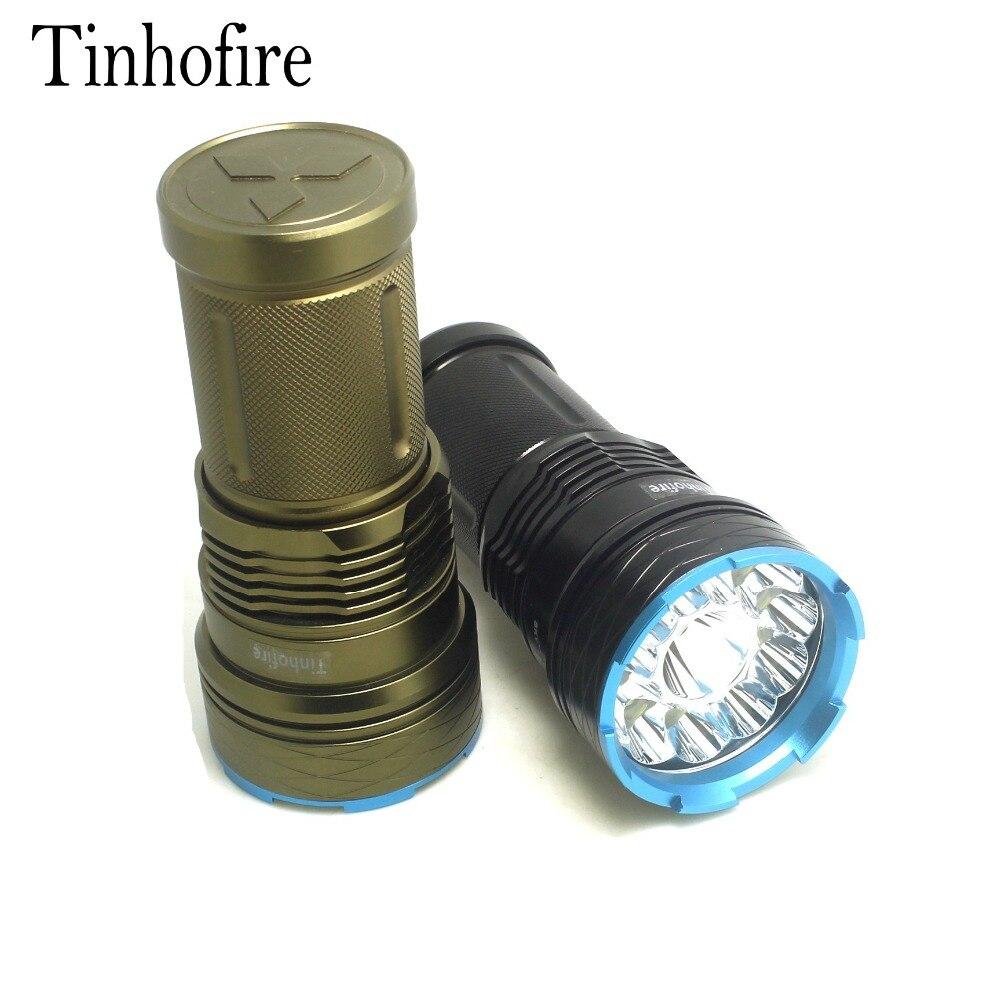 Linterna LED Tinhofire de 20000 lúmenes, 12T6, 12x cree XM-L T6, linterna Led táctica portátil, linterna de caza G12