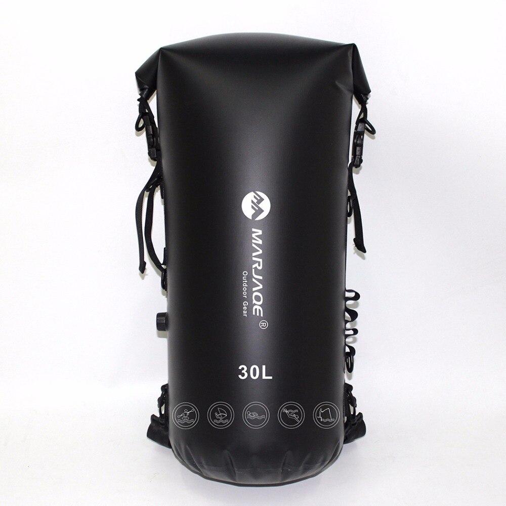 Bolsas inflables impermeables de 30L, bolsa de almacenamiento para senderismo en Río, bolsa seca para canoa, Kayak, Rafting, natación, surf, mochila con esponjas