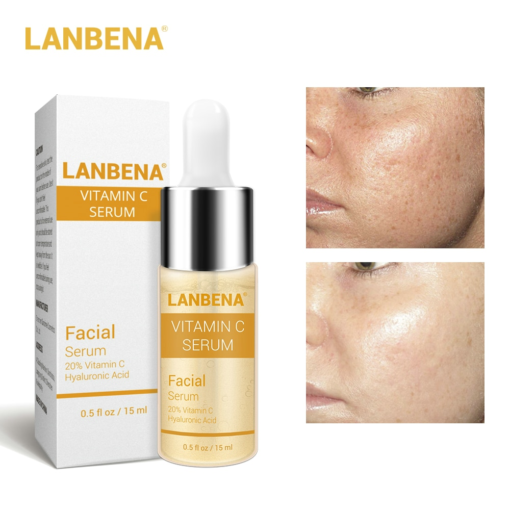 LANBENA Vitamin C Whitening Serum Hyaluronic Acid Face Cream Snail Remover Freckle Speckle Fade Dark Spots Anti-Aging Skin Care недорого