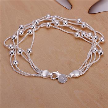 Wholesale 925 Silver color bracelet 2015 Fashion Jewelry bracelets for women Grape H067