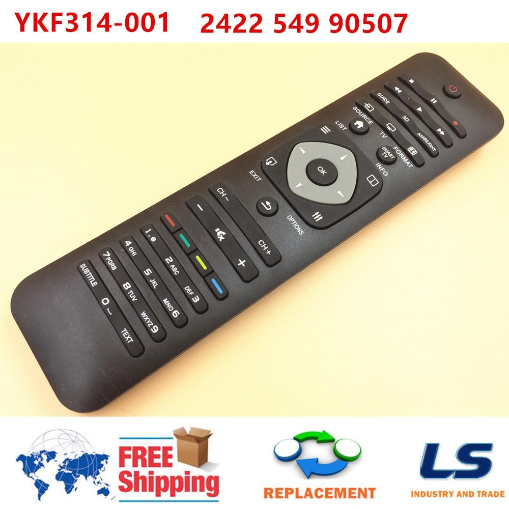 YKF314-001 de mando a distancia para televisor inteligente PHILIPS 3D, 32 / 37 / 42 / 55 PFL6007 PFL6008 PFL6097 PFL6907 K/T/H 12 / 60