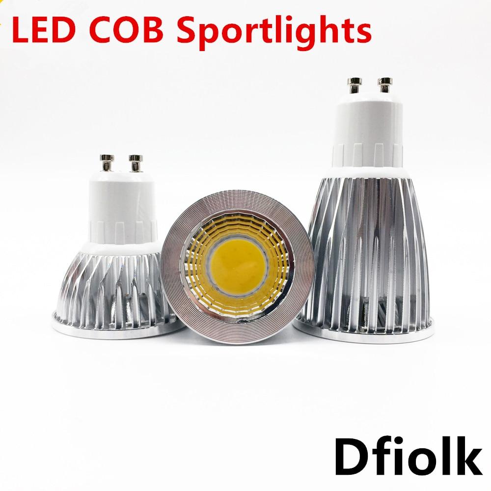 New High Power Lampada Led MR16 GU10 COB 6w 9w 12w Dimmable Led Cob Spotlight Warm Cool White MR 16 12V Bulb Lamp GU 10 220V