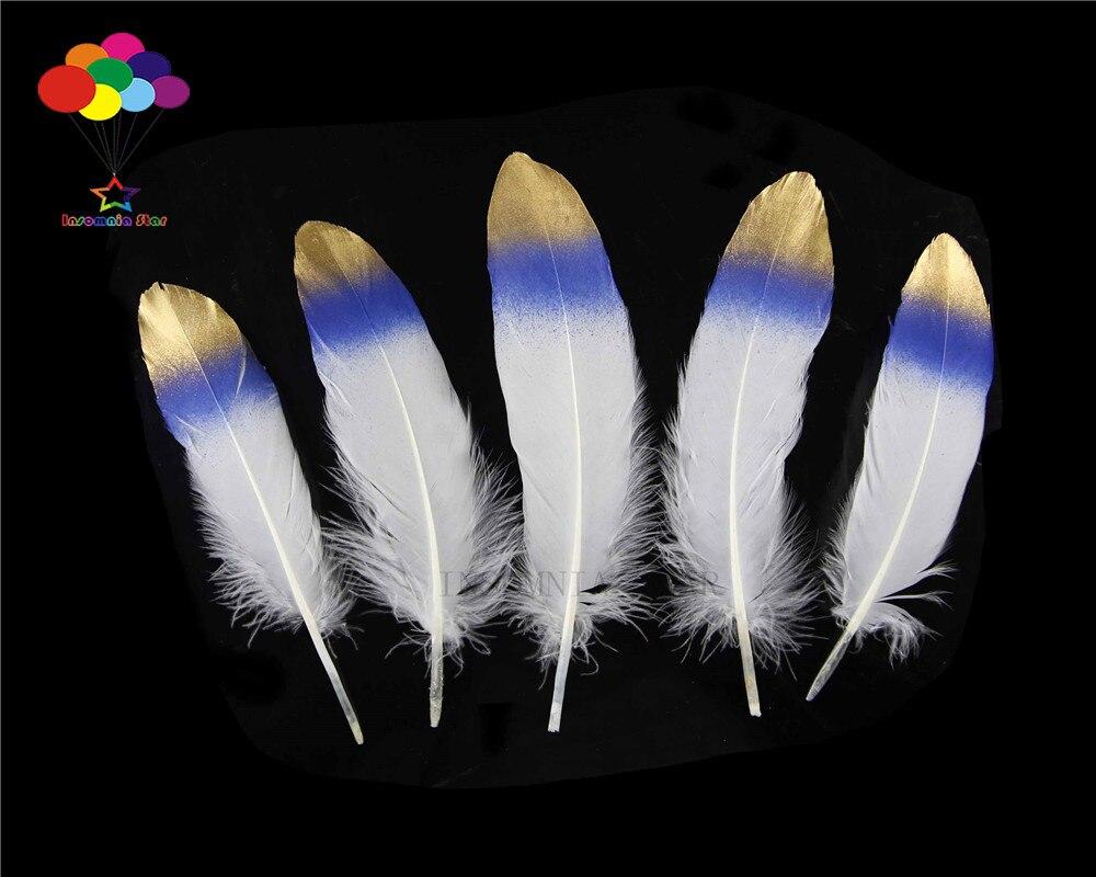 100 piezas 100% natural premium pluma de ganso 20-25 cm/8-10 pulgadas blanco cola de zafiro hermosa para máscara de Carnaval Diy