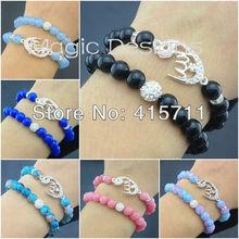 C150629125 Islamic Fashion Jewelry Muslim Silver Crescent Allah Bracelet Set of 2