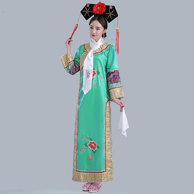 Alta Qualidade Da Dinastia Qing Antiga Infanta Dramatúrgica Vestido Mulheres Chinês Tradicional Traje Teatral Peri Robe Dande Desgaste