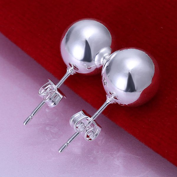 925 joyas chapadas en plata, joyería de moda para mujeres, 10 M pendientes de frijol E074/YKMYQWJS WTJNGKBF