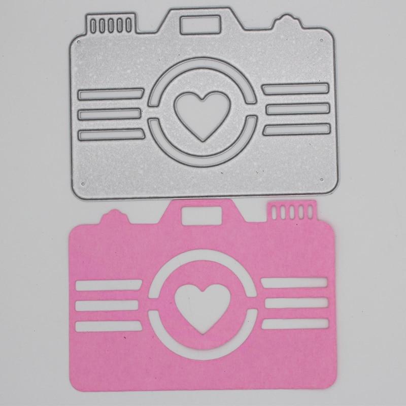 Metal steel frames Cutting Dies heart camera decoration  DIY Scrap booking Photo Album Embossing paper Cards 7.1*10cm