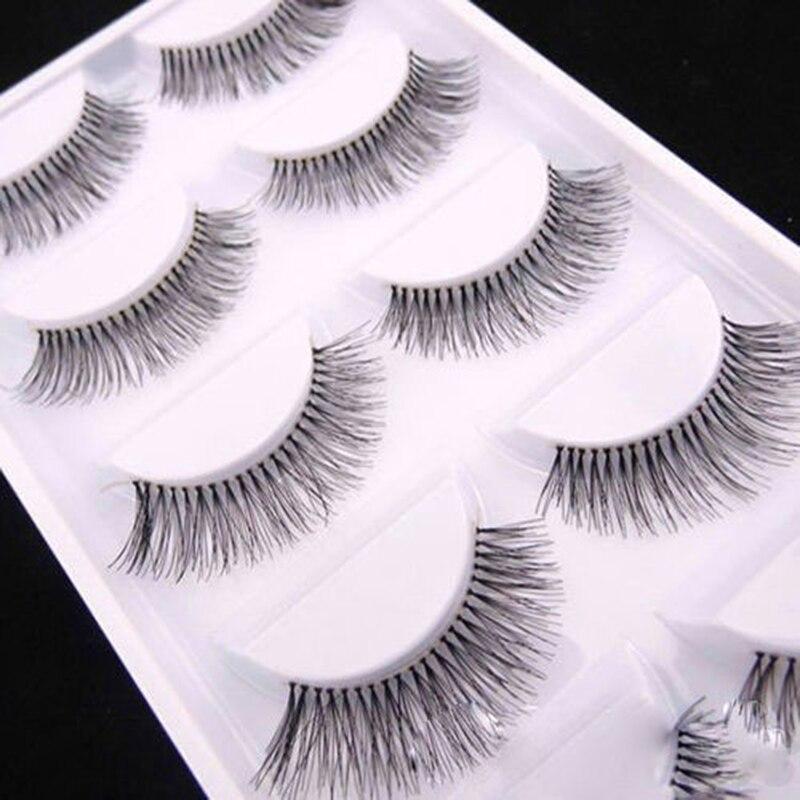 5 pares/set magnético natural preto longo esparso cruz cílios postiços falsos cílios de olho extensões maquiagem accessorices
