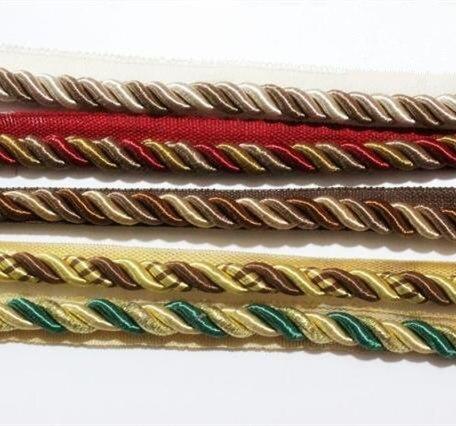 5 colores cuerda trenzada de tres hilos de cordón para cojín almohada bolsa sofá silla accesorios decorativos 10mm de diámetro venta por Bale