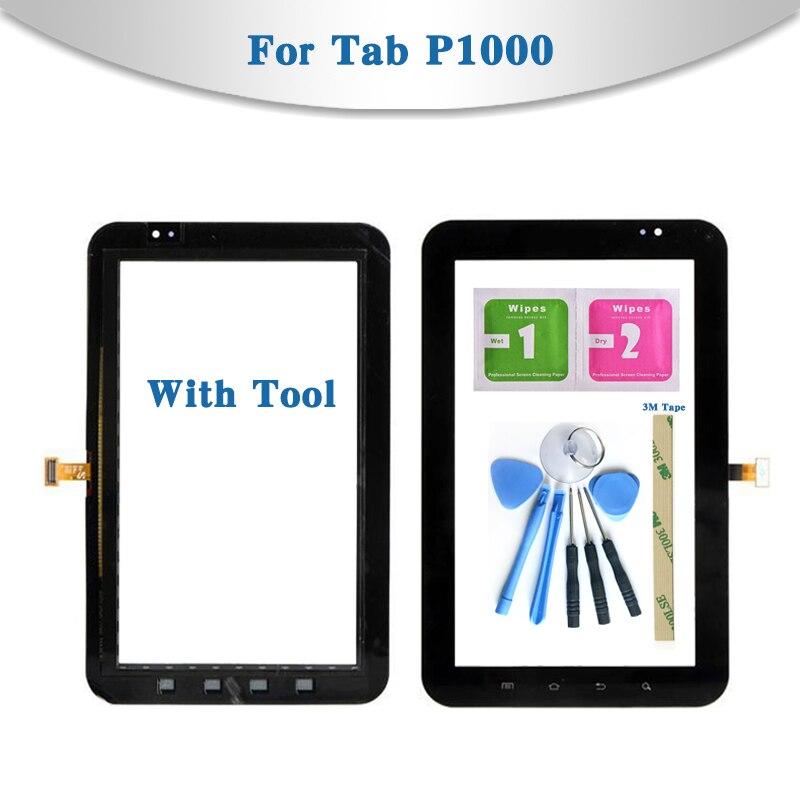 "7,0 ""para Samsung Galaxy Tab P1000 Tablet Touch pantalla digitalizador Sensor frontal exterior cristal lente Panel"