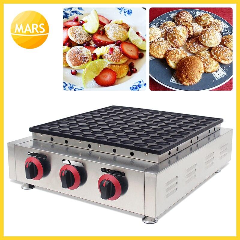 Mars Heavy Duty LPG Gas 100pcs Poffertje Grill Mini Dutch Pancake Mini Crepes Machine Baker Maker