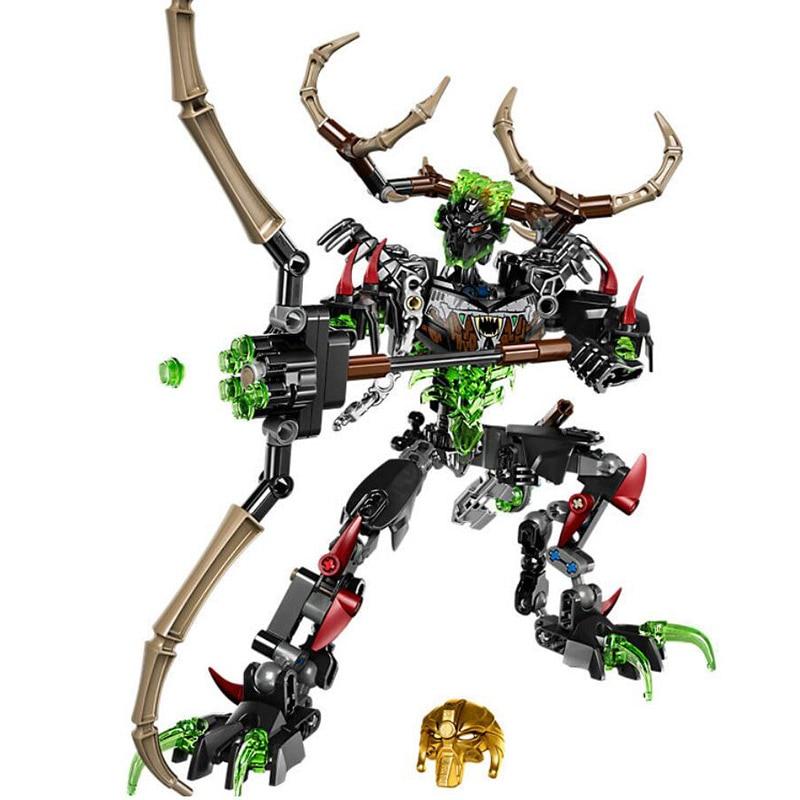 Bioquímica Guerrero Bioniclemask luz Umarak Hunter edificio bloque Compatible con Legoings Bionicle 71310 Juguetes