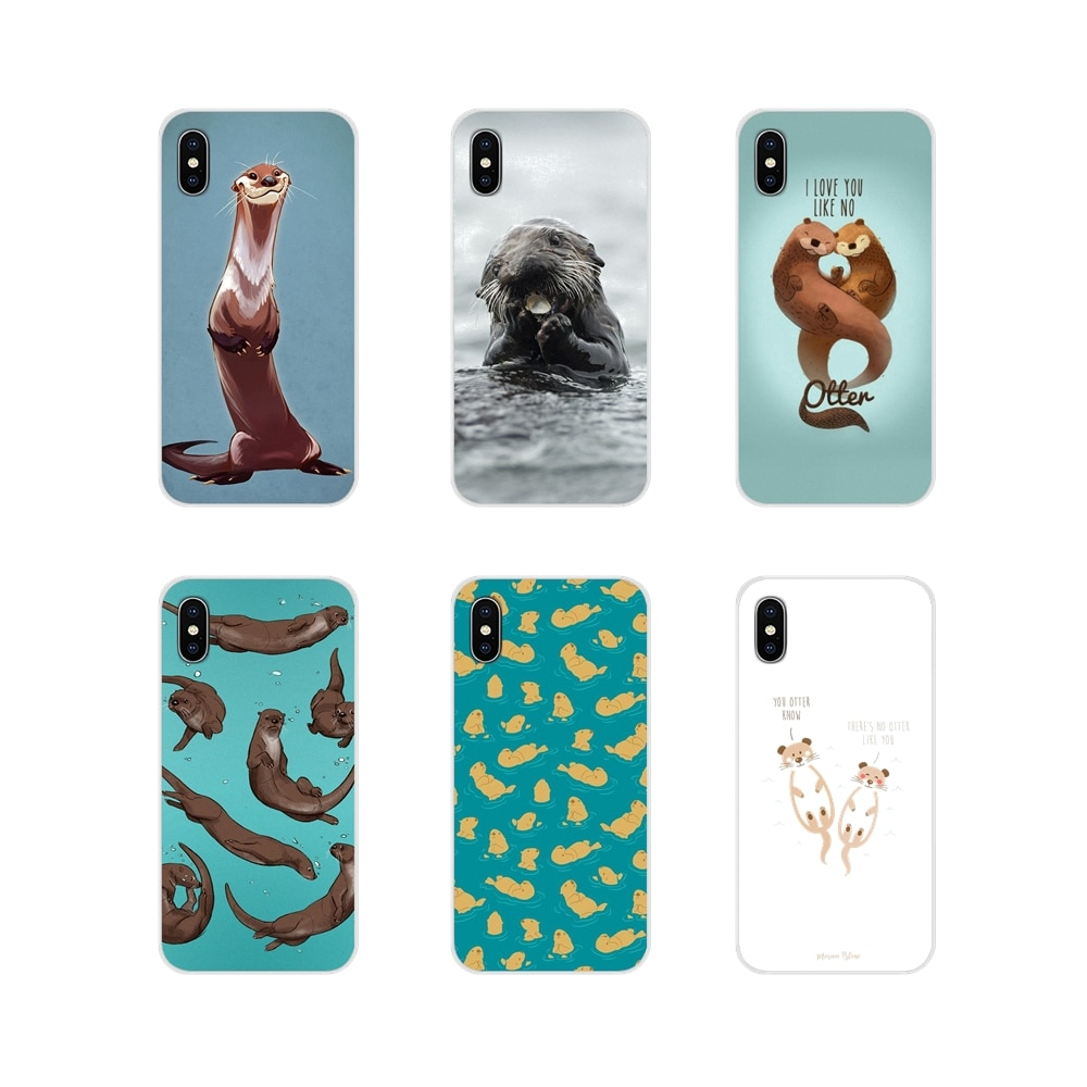 Animal otter Black For LG G3 G4 Mini G5 G6 G7 Q6 Q7 Q8 Q9 V10 V20 V30 X Power 2 3 K10 K4 K8 2017 Accessories Phone Shell Covers