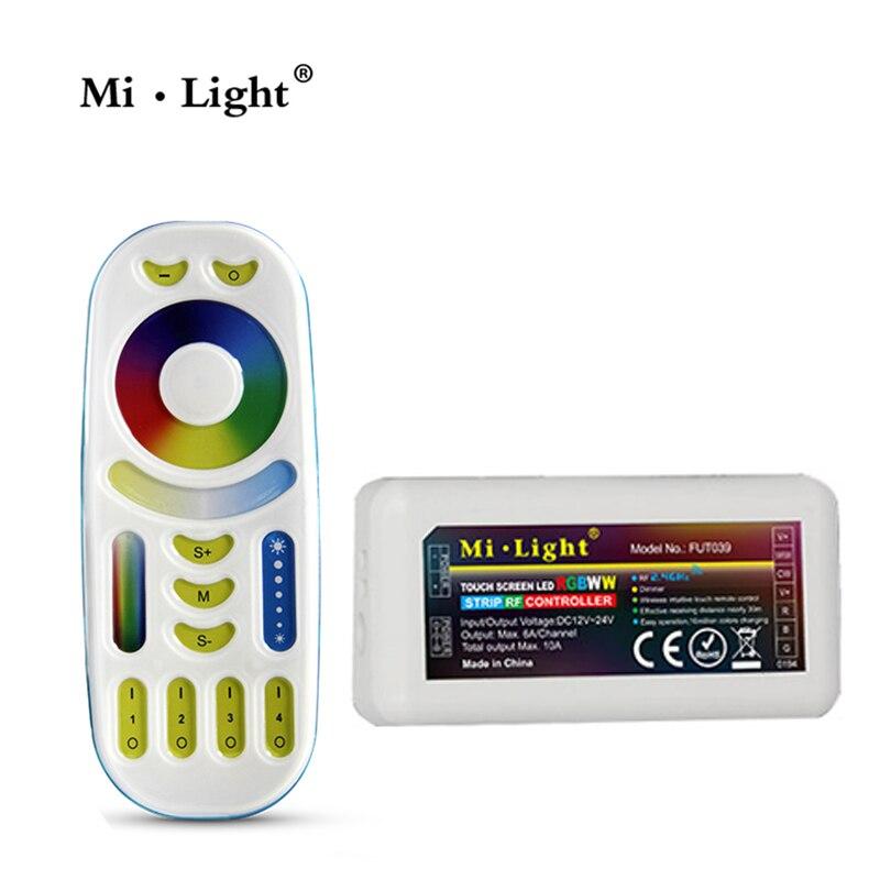 Mi Light 2,4G Mi Light RGB + CCT светодиодный пульт дистанционного управления и 2,4G RGBWW светодиодный контроллер для светодиодной ленты