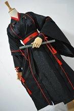 Jin Ye Xi Night Attack masculino Hanfu Original espada negra hombres artes marciales KungFu traje de Cosplay masculino Hanfu diseño corto
