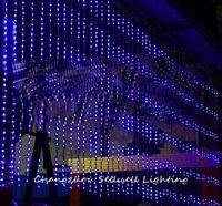 GOOD!Wedding celebration product hotel showcase decoration 3*6m blue digital lamp H209