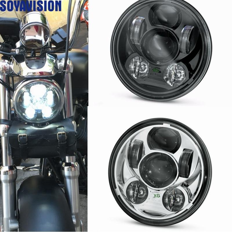 5-3/4-5,75 LED de Motor faro para Harley Dyna Softail noche tren 2009 Sportster Iron 883 noche Rod especial VRSCDX