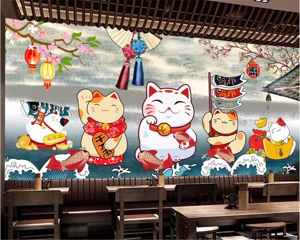 Beibehang personalizado tamaño retro estilo japonés restaurante sushi cuadro para decoración de restaurante papel tapiz papel de pared 3d behang