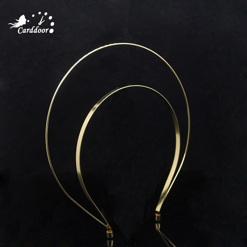 Accesorios para el cabello de boda Carddoor, diadema con diseño de corona a la moda, diademas negras doradas, Tiara, corona, joyería nupcial para el cabello