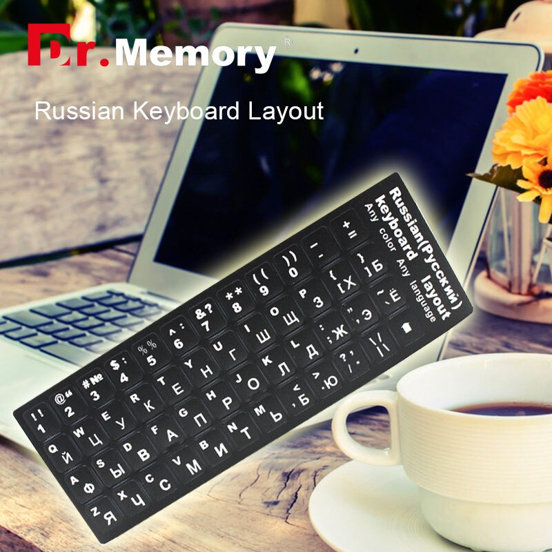Russa Adesivo Teclado do laptop RU Layout Padrão Durável Laptop Computador Desktop Teclado Adesivo