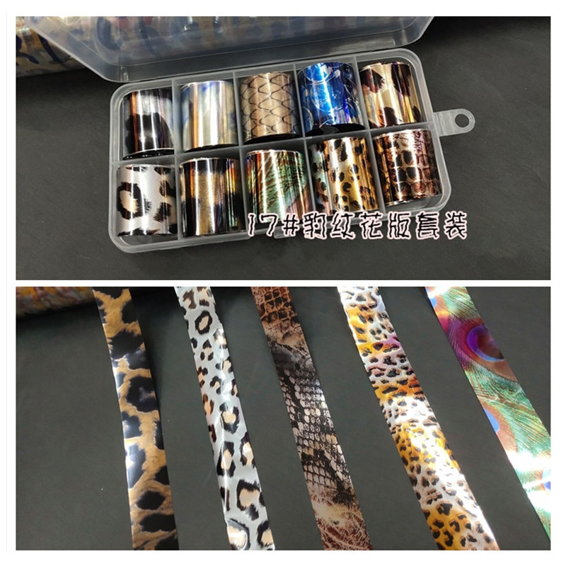 1 Box Leopard print Nail Foil Leopard pattern Nail Transfer Foil Sticker Manicure Nail Art Decoration