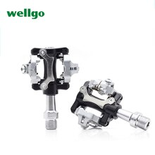 "Wellgo W01 Aluminium Mtb Fiets Clipless Light Pedalen 9/16 ""CR-MO Spindel Sealed Cleats Compatibel Voor Shimano Spd"