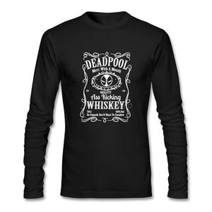 Deadpool T Shirt Long Sleeve T-shirts Summer Hot Sale O-neck Cotton T Shirts Fitness Men