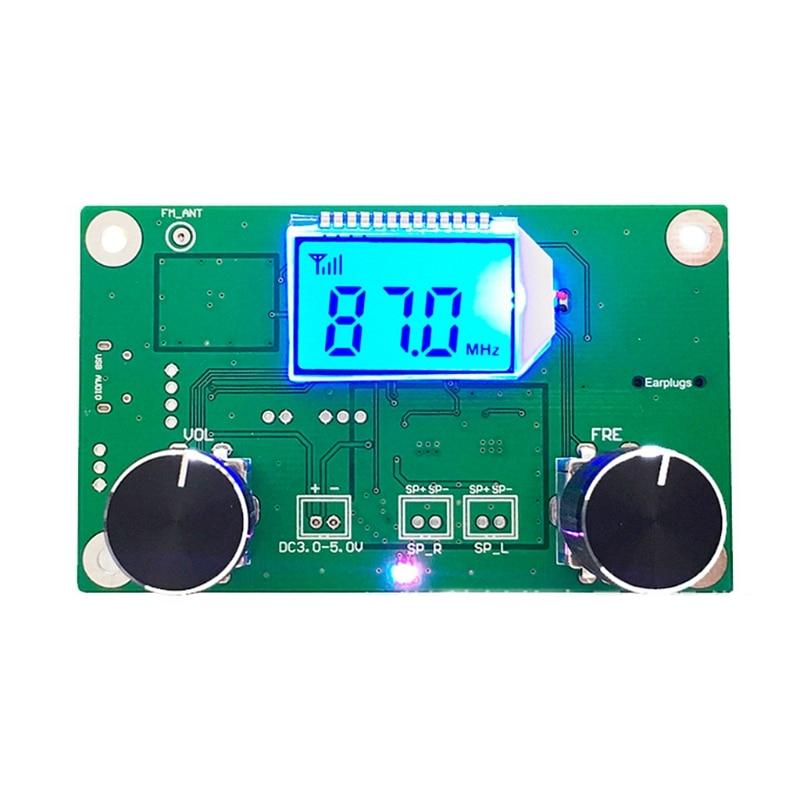 OOTDTY 87-108MHz DSP&PLL LCD Stereo Digital FM Radio Receiver Module + Serial Control enlarge