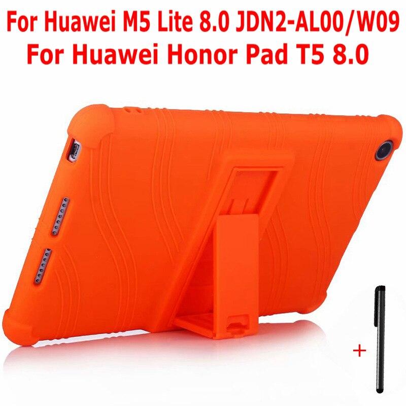"""IBuyiWin, funda de silicona blanda a prueba de golpes para Huawei MediaPad M5 Lite 8 JDN2-AL00/W09, funda para tableta de 8,0 """"para Honor Pad 5 8,0 + Pen"""