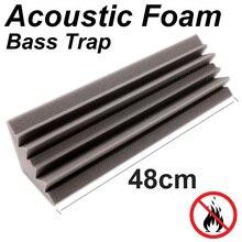 "4.7"" x 4.7"" x 18.8"" Wall Corner Bass Trap Studio Panel Sound Absorbing Acoustic Foam Treatment Polyurethane sponge"