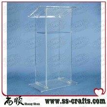 Atril acrílico de lujo, podio de Perspex, púlpito de iglesia de plexiglás